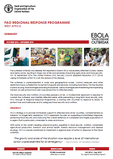 Ebola Outbreak West Africa: FAO Regional Response Programme (October 2014 – September 2015) Summary